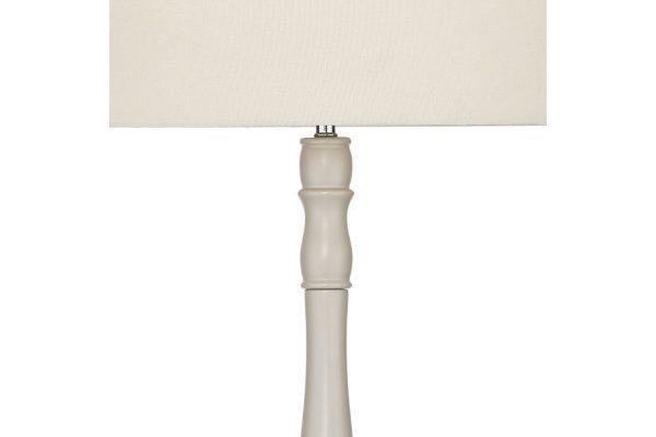 Roxana Cream Floor Lamp with Shade Detail