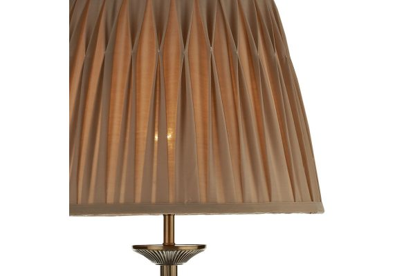 Thea Antique Brass Floor Lamp Shade