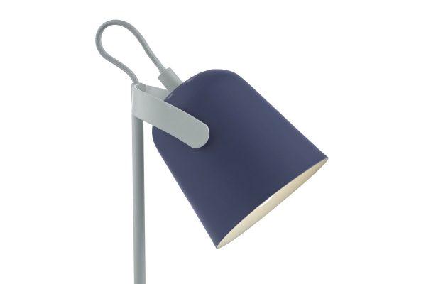 Uri Blue & White Task Lamp Head Detail