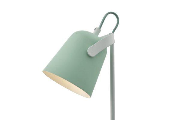 Uri Pale Green & White Task Lamp Head Detail