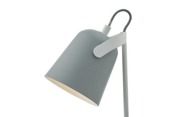 Uri Soft Matt Grey Task Lamp Head Detail