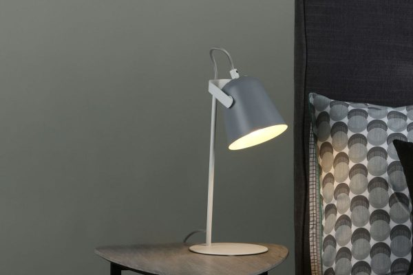 Uri Soft Matt Grey Task Lamp Lifestyle