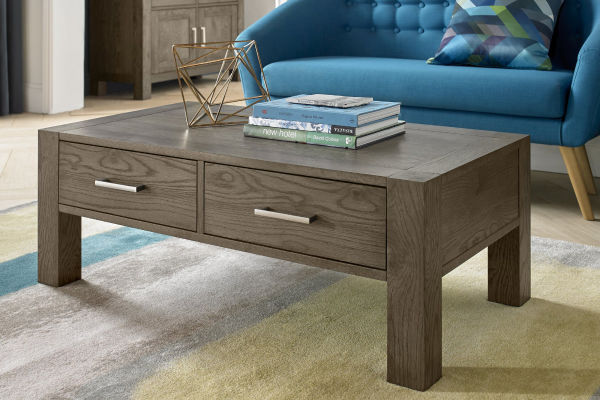 Sopha Avocado dark oak coffee table display
