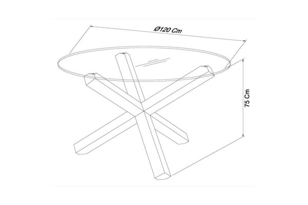 Sopha Avocado dark oak dining glass top round table measurements