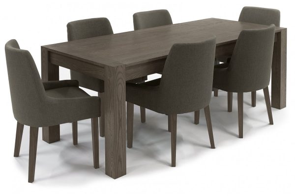 Sopha Avocado dark oak medium end extension dining table display