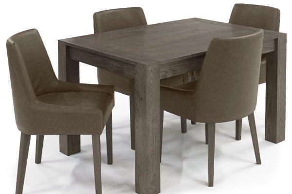 Sopha Avocado dark oak small end extension dining table display