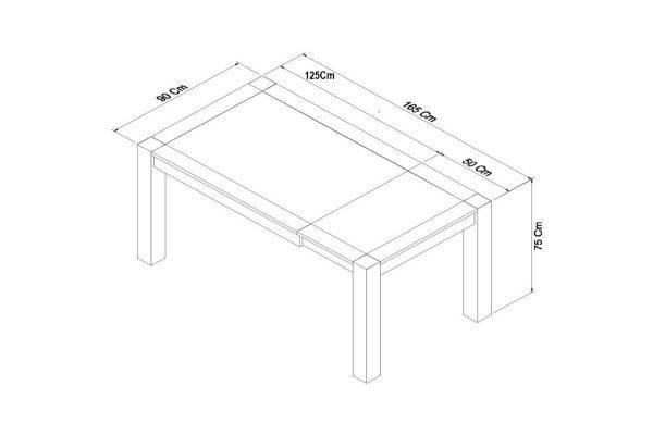 Sopha Avocado dark oak small end extension dining table measurements