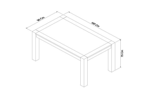 Sopha Avocado light oak 6 seater dining table measurements