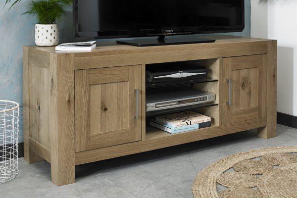 Sopha Avocado light oak entertainment unit display