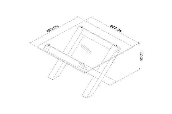 Sopha Avocado light oak glass lamp table measurements