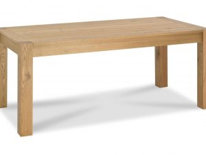Sopha Avocado light oak large end extension dining table