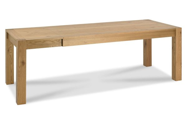 Sopha Avocado light oak large end extension dining table extended