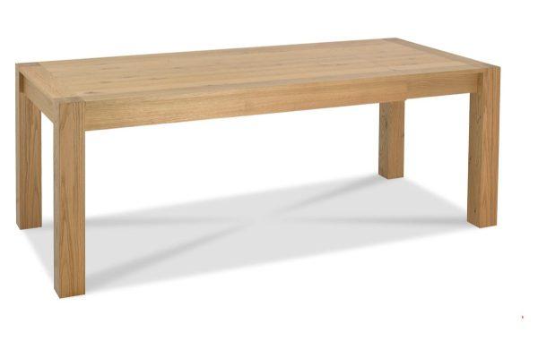 Sopha Avocado light oak medium end extension dining table extended
