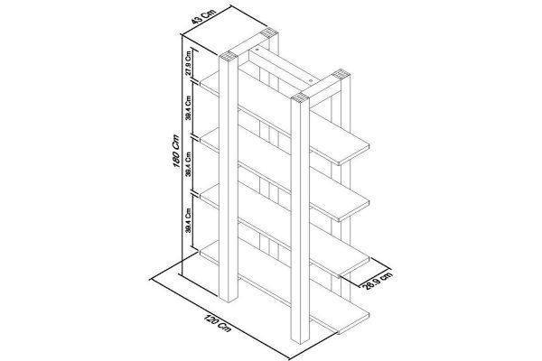 Sopha Avocado light oak open shelf unit measurements