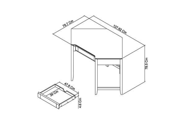 Sopha nutmeg oak corner desk measurements