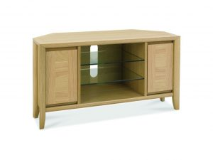 Sopha nutmeg oak corner entertainment unit