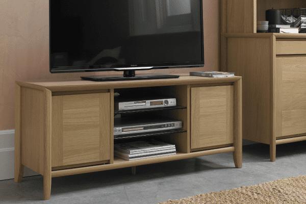Sopha nutmeg oak entertainment unit display