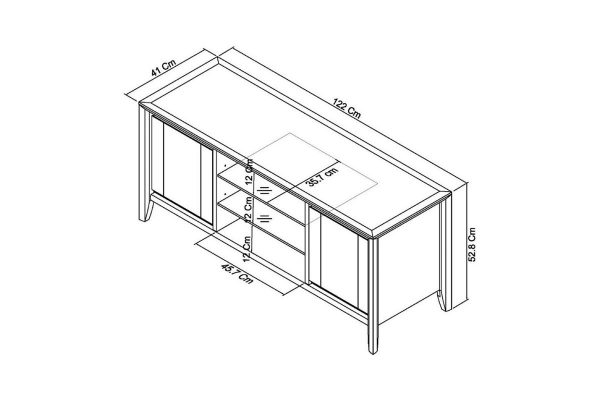 Sopha nutmeg oak entertainment unit measurements