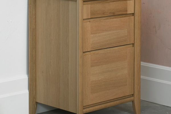 Sopha nutmeg oak filing cabinet display