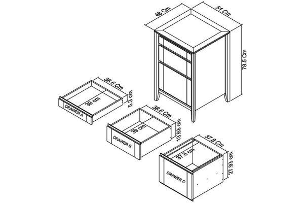 Sopha nutmeg oak filing cabinet measurements
