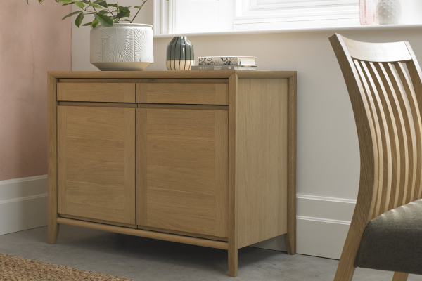 Sopha nutmeg oak narrow sideboard display