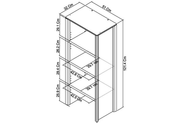 Sopha nutmeg oak narrow top unit measurements