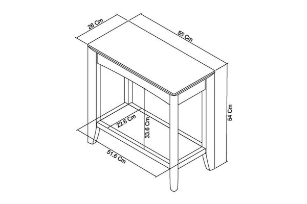 Sopha nutmeg oak side table measurements