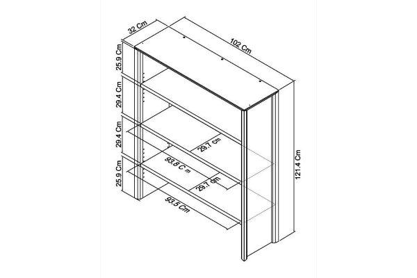 Sopha nutmeg oak wide top unit measurements