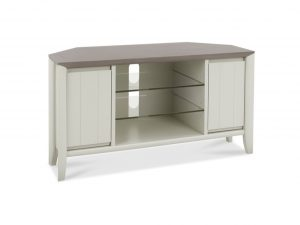 Sopha Nutmeg two tone corner entertainment unit