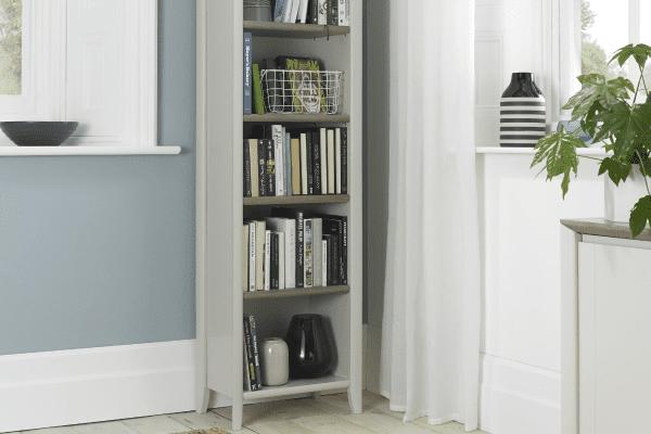 Sopha Nutmeg two tone narrow bookcase display