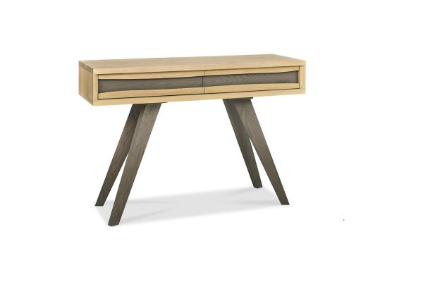 Sopha Pepper aged oak console table with drawers