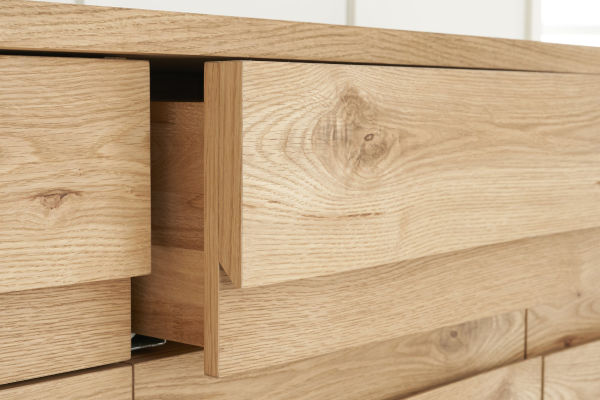 Sopha Pepper rustic oak narrow sideboard drawer