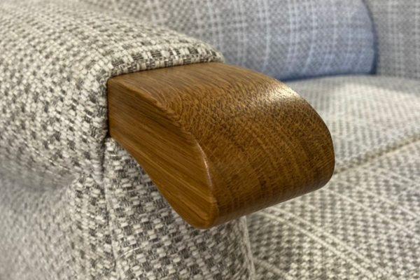 Sopha Sherborne Upholstery Malham Light Oak Knuckle