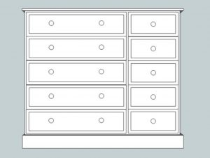 sopha cinnamon 10 drawer multi chest