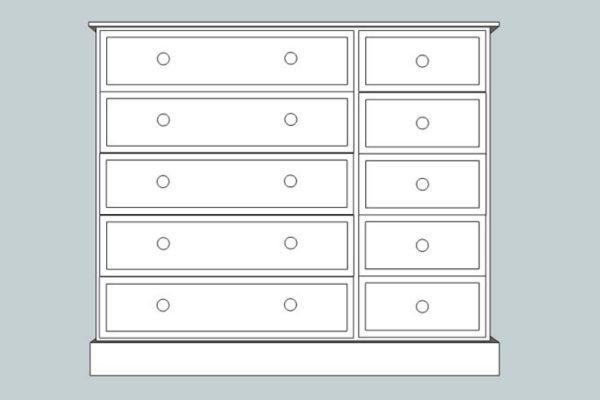 sopha cinnamon 10 drawer multi chest