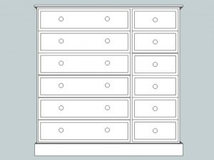 sopha cinnamon 12 drawer multi chest