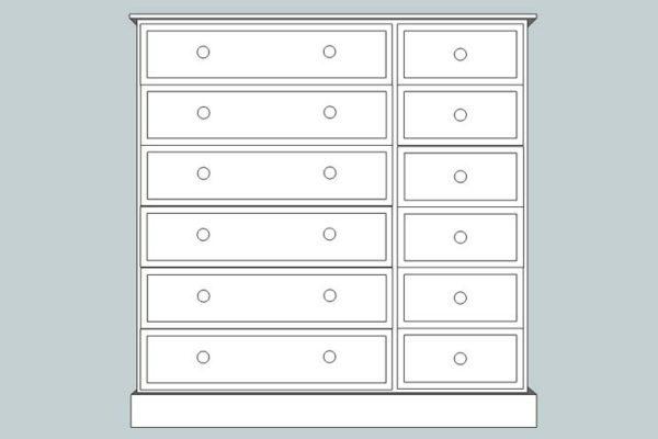 sopha cinnamon 12 drawer multi chest
