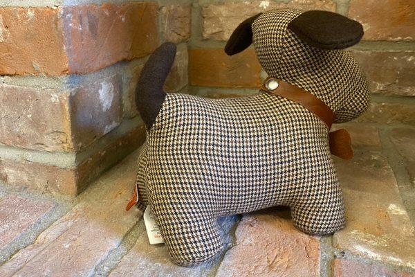 Sopha Rufus the Dog Houndstooth Doorstop