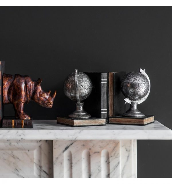 Sopha Atlas Pair of Globe Bookends W12 D12 H18