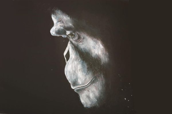 cassie williams framed art grief detailed