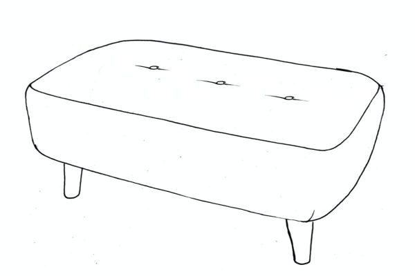 banoffee medium bench stool