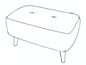 banoffee small bench stool