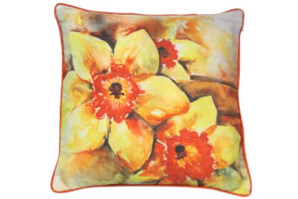Sopha Daffodil Floral Cushion