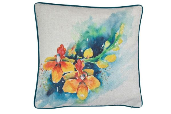 Sopha Phalaenopsis Blume Floral Cushion Yellow Orchid