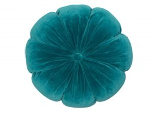 Sopha Teal flower velvet cushion