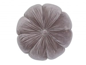 Sopha Taupe velvet flower cushion